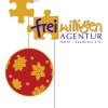 Logo Freiwilligen-Agentur mit Weihnachtsmannmütze