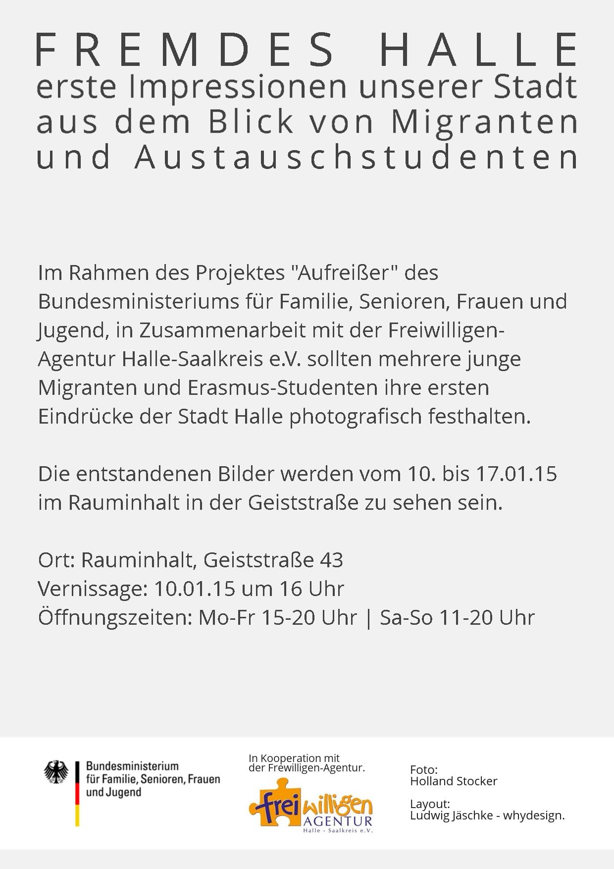 Flyer Fremdes Halle Rückseite