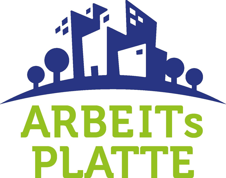 ARBEITsPLATTE_Logo_blau_grün_HG_transparent