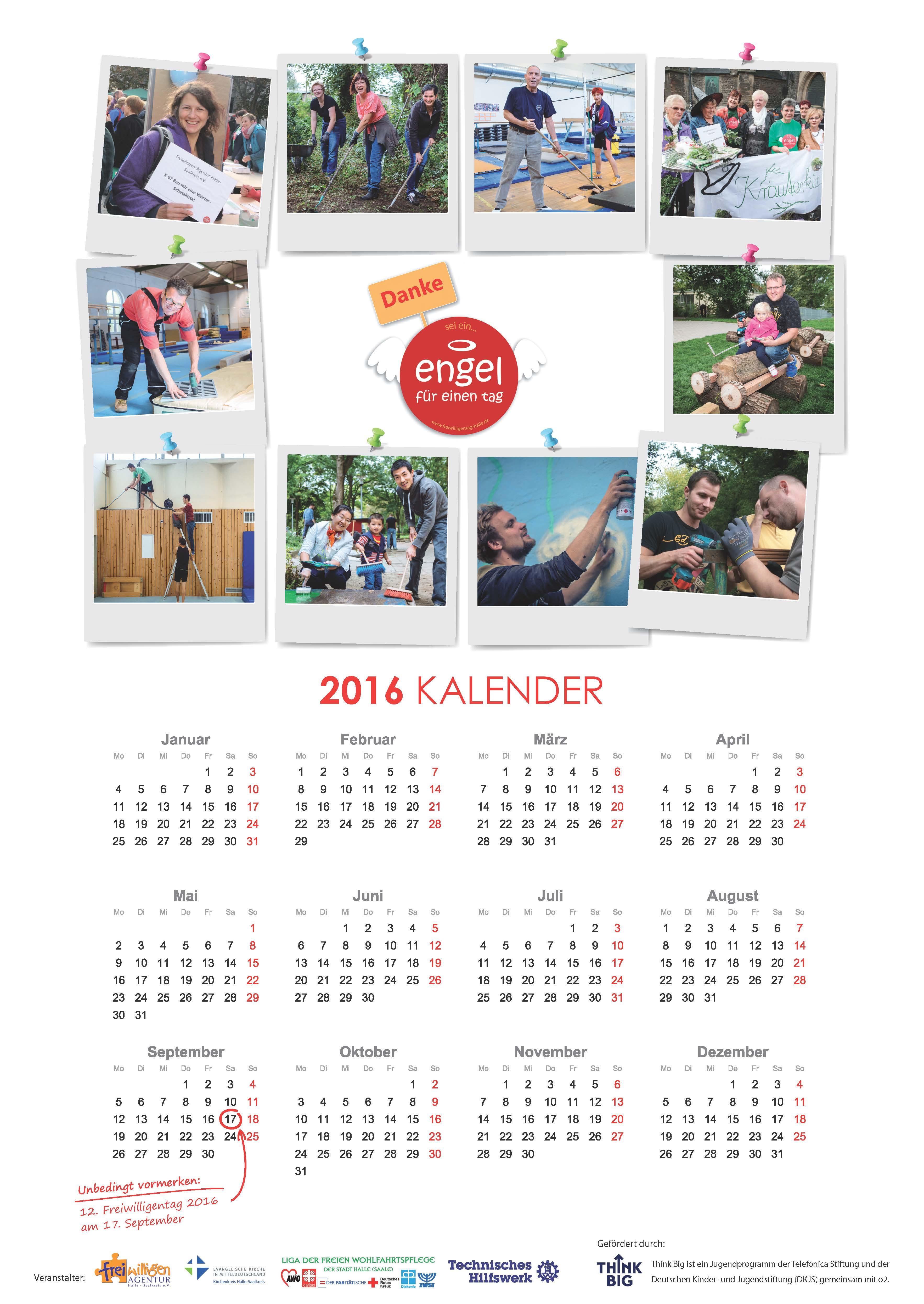 Kalender Freiwilligentag Halle 2016