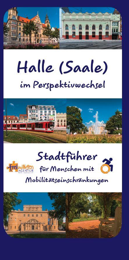 Deckblatt Stadtführer barrierefrei Halle