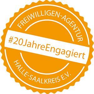 badge 20JahreEngagiert_ohne Halle_weisserHG